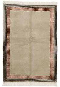 Gabbeh Indisk Teppe 140X199 Ekte Moderne Håndknyttet Lys Grå/Mørk Brun (Ull, India)