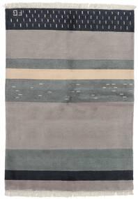 Gabbeh Indisk Teppe 141X197 Ekte Moderne Håndknyttet Lys Grå/Mørk Grå (Ull, India)