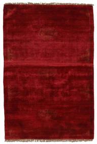 Huttan Teppe 96X143 Ekte Orientalsk Håndknyttet Mørk Rød (Ull, Pakistan)