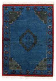 Gabbeh Indisk Teppe 142X198 Ekte Moderne Håndknyttet Mørk Blå (Ull, India)