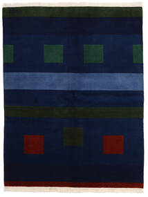 Gabbeh Indisk Teppe 174X225 Ekte Moderne Håndknyttet Mørk Blå (Ull, India)