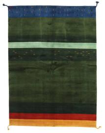 Gabbeh Indisk Teppe 166X227 Ekte Moderne Håndknyttet Mørk Grønn (Ull, India)
