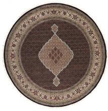 Tabriz Royal Teppe Ø 249 Ekte Orientalsk Håndknyttet Rundt Mørk Grå/Mørk Brun ( India)