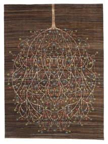 Gabbeh Loribaft Teppe 170X227 Ekte Moderne Håndknyttet Mørk Brun/Brun (Ull, India)