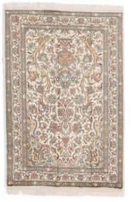 Kashmir Ren Silke Teppe 64X95 Ekte Orientalsk Håndknyttet Lys Grå/Beige (Silke, India)
