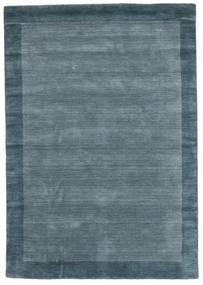 Handloom Frame - Petrol Blå Teppe 160X230 Moderne Blå (Ull, India)