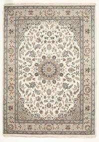 Nain Indisk Teppe 251X350 Ekte Orientalsk Håndknyttet Lys Grå/Beige Stort ( India)