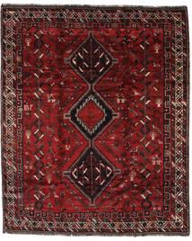 Shiraz Teppe 225X277 Ekte Orientalsk Håndknyttet Mørk Rød/Mørk Brun (Ull, Persia/Iran)