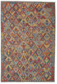 Kelim Afghan Old Style Teppe 178X262 Ekte Orientalsk Håndvevd Mørk Grå/Mørk Rød (Ull, Afghanistan)