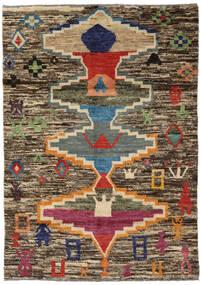 Moroccan Berber - Afghanistan Teppe 119X166 Ekte Moderne Håndknyttet Lysbrun/Mørk Grå (Ull, Afghanistan)
