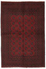 Afghan Teppe 157X235 Ekte Orientalsk Håndknyttet Svart (Ull, Afghanistan)