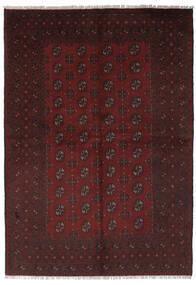 Afghan Teppe 156X235 Ekte Orientalsk Håndknyttet Svart (Ull, Afghanistan)