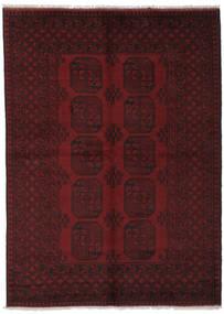 Afghan Teppe 162X226 Ekte Orientalsk Håndknyttet Svart (Ull, Afghanistan)