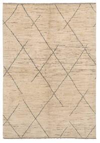 Moroccan Berber - Afghanistan Teppe 158X227 Ekte Moderne Håndknyttet Lysbrun (Ull, Afghanistan)
