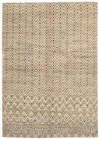 Moroccan Berber - Afghanistan Teppe 163X240 Ekte Moderne Håndknyttet Lysbrun/Mørk Brun (Ull, Afghanistan)