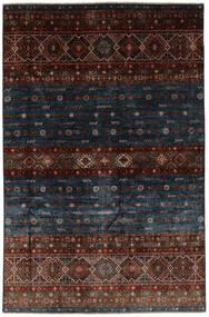 Shabargan Teppe 167X253 Ekte Moderne Håndknyttet Svart/Mørk Brun (Ull, Afghanistan)