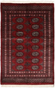 Pakistan Bokhara 3Ply Teppe 125X188 Ekte Orientalsk Håndknyttet Svart/Mørk Rød (Ull, Pakistan)