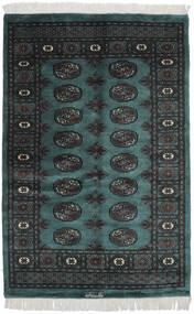 Pakistan Bokhara 3Ply Teppe 116X180 Ekte Orientalsk Håndknyttet Svart/Mørk Turkis (Ull, Pakistan)