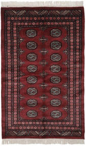 Pakistan Bokhara 3Ply Teppe 122X190 Ekte Orientalsk Håndknyttet Svart (Ull, Pakistan)