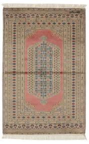 Pakistan Bokhara 2Ply Teppe 99X150 Ekte Orientalsk Håndknyttet Mørk Brun/Brun (Ull, Pakistan)