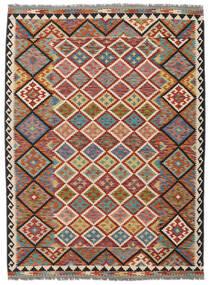 Kelim Afghan Old Style Teppe 178X240 Ekte Orientalsk Håndvevd Mørk Brun/Svart (Ull, Afghanistan)